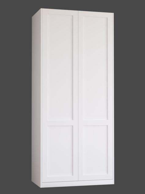 Shaker 1.2 (kahe raamiga Shaker 1) uksed PAX garderoobikappidel.