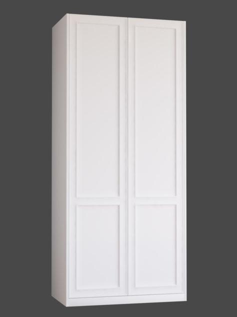 Shaker 2.2 (kahe raamiga Shaker 2) uksed PAX garderoobikappidel.